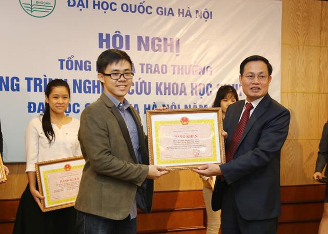 ĐHKT có 1 công trình NCKH sinh viên đạt giải Nhì cấp ĐHQGHN năm học 2017 - 2018