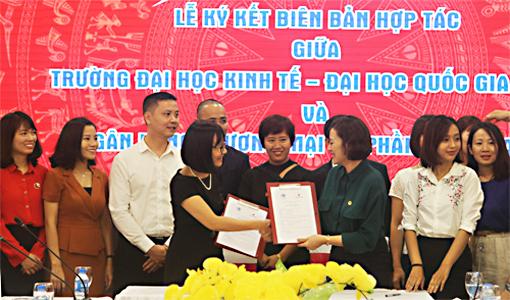 Lễ ký kết hợp tác giữa Trường ĐH Kinh tế - ĐHQGHN với SeaBank