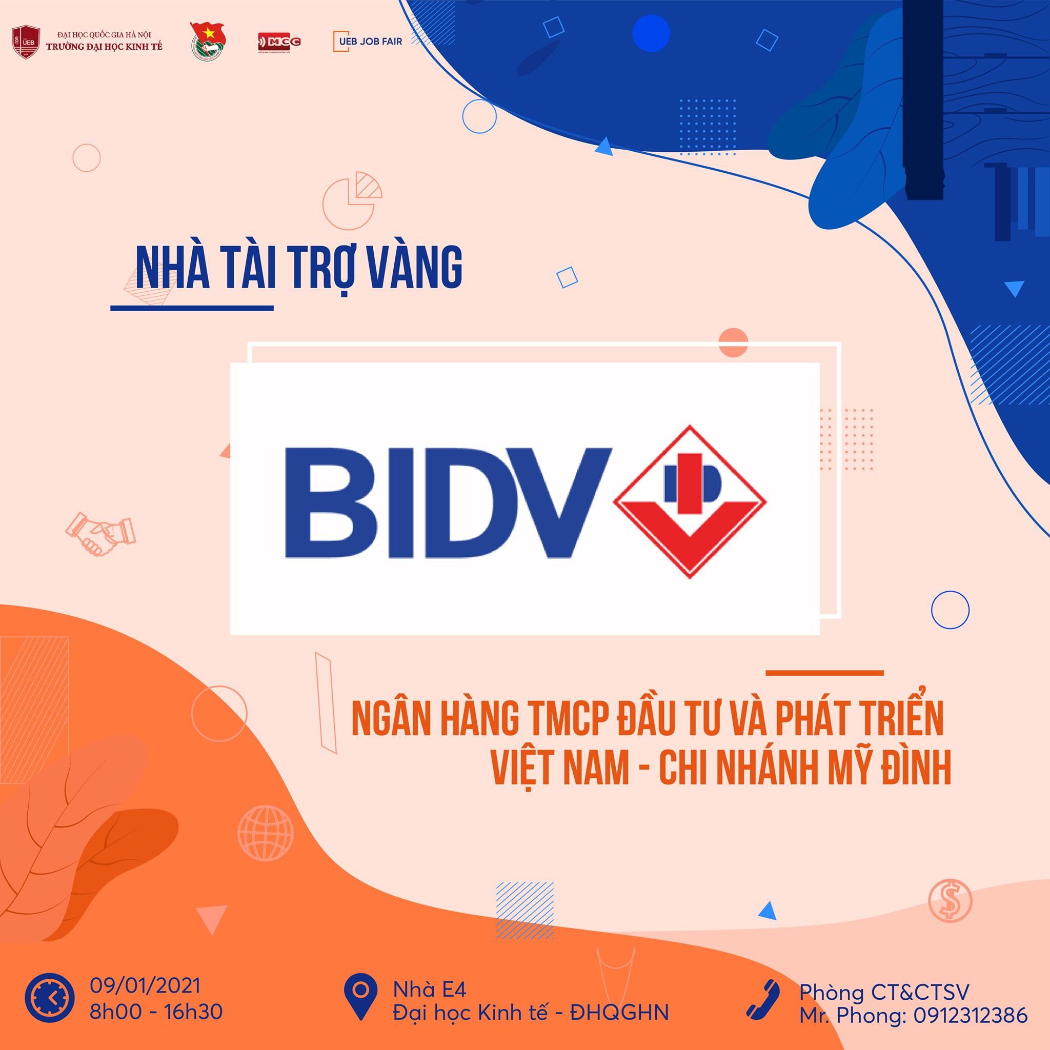 Ngân hàng TMCP Đầu tư và Phát triển Việt Nam (BIDV) – Chi nhánh Mỹ Đình tuyển dụng